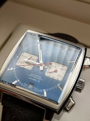 £3595.95 • Buy Tag Heuer Monaco Watch Blue Dial, Steve McQueen Calibre 12 Box & Papers