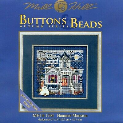 $12.95 • Buy Haunted Mansion Cross Stitch Kit Mill Hill 2011 Buttons & Beads Autumn