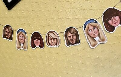 £8 • Buy ABBA Birthday Bunting Banner Decoration Eurovision Mamma Mia Party Sign 70s Hen