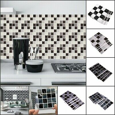 £5.68 • Buy 30X Kitchen Tile Stickers Bathroom Mosaic Sticker Self-adhesive Home Wall Decor