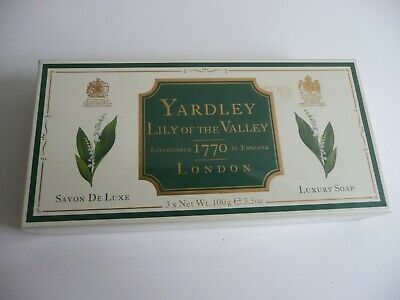 £5.95 • Buy YARDLEY  Lily Of The Valley 3 X 100g Soap Soaps NEW SEALED Made In England
