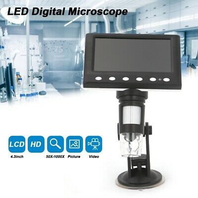 £29.89 • Buy 8 LED Magnifier 4.3  1000X Microscope HD LCD Monitor Electronic Digital Video