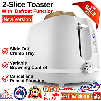 AU21.85 • Buy Toaster 2-Slice Electric Automatic Crumb Tray Defrost Reheat Variable Browning