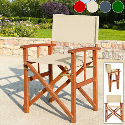 £74.95 • Buy Folding Directors Chairs Outdoor Garden Patio Bistro Cafe Seat Deck Foldable