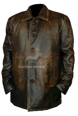 $109.99 • Buy Distressed Supernatural Season 7 Genuine Leather Coat Real Leather Fashion Men's