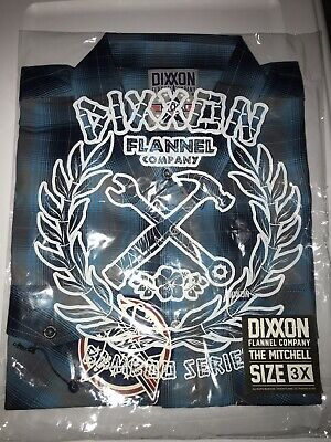 """$79.99 • Buy Dixxon Flannel """"The Mitchell"""" Short Sleeve Bamboo.  3XL Sold Out! NIB"""