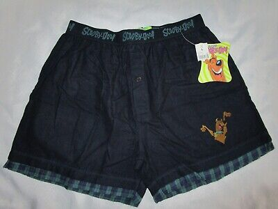 $24.99 • Buy VTG Scooby Doo Cotton Flannel Mens Boxer Shorts Size L (36/38) Embroidered