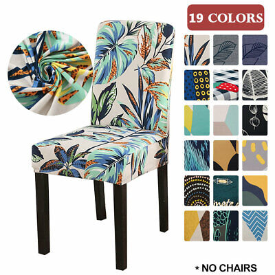 £2.99 • Buy Stretch Dining Chair Seat Covers Removable Cushion Slipcover Protector Decor UK
