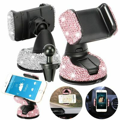$11.43 • Buy Car Phone Holder Dashboard Stand Crystal Bling Girls Interior Accessories US