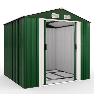 £325.95 • Buy Metal Tool Shed Garden Storage 8x6ft Apex House Outdoor Container Large Yard New