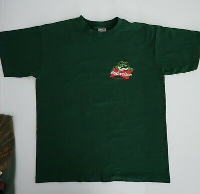 $ CDN43.20 • Buy VTG Budweiser Frog T-Shirt Mens Large Green This Bud's For You Single Stitch