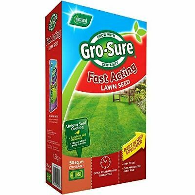 £17.30 • Buy Gro-Sure Fast Acting Grass Lawn Seed, 50 M2, 1.5 Kg