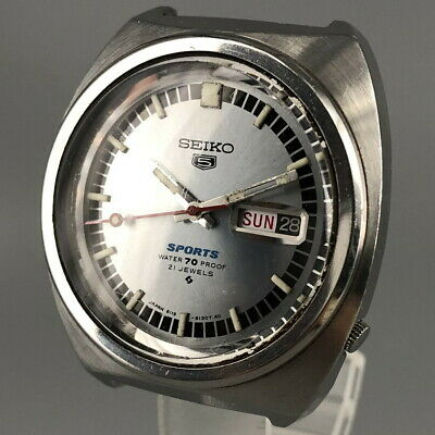 $ CDN314.71 • Buy Vintage SEIKO 5 SPORTS 6119-8130 21Jewels Automatic Watch From Japan #551