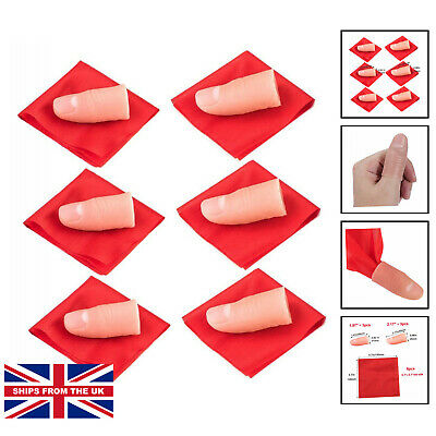 £11.49 • Buy 6 Pack Finger Magic Trick, Disappearing Silk Fake Thumb Tip Gimmick. From Ages