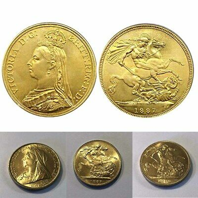 £9.99 • Buy Queen Victoria Full Gold Sovereign Gold Plated Random Date 1887-1900 NEW