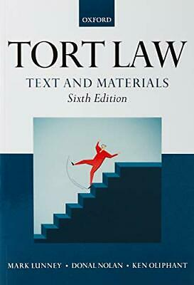 £42.21 • Buy Tort Law: Text And Materials By Ken Oliphant Mark Lunney Donal Nolan (Paperback