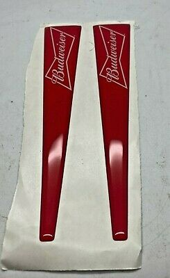 $ CDN17.29 • Buy One Pair Of Budweiser Lager Tap Handle Stickers - Font Bar Pub Home Beer Pouring