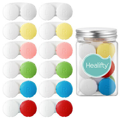 £6.71 • Buy 12pcs Portable Eye Contact Lense Cases Contacts Holder Storage Boxes For Outing