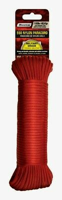 $11.62 • Buy SecureLine 50' RED Braided Nylon PARACORD Military Grade Compact 110 Lb. NEW!!
