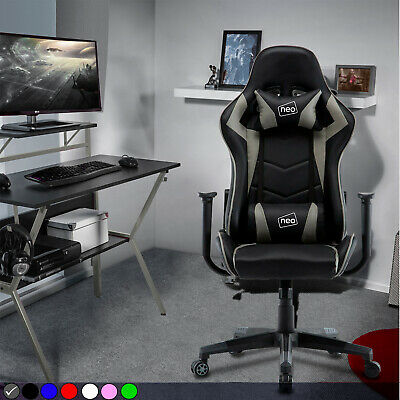 £71.99 • Buy Neo Executive Racing Gaming Computer Office Adjust Swivel Recliner Leather Chair