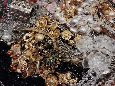 $ CDN40.27 • Buy 💗Huge Mix Of Vintage Modern Jewelry Lot Craft Junk Restore TWO Full Pound LBS