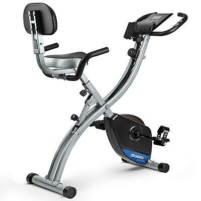 £82.99 • Buy Folding Exercise Bike Upright Indoor Workout X-Bike With Arm Resistance Bands