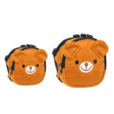 £6.60 • Buy Dog Backpack Harness Adjustable Saddle Bag For Dogs To Wear Brown Bear Style