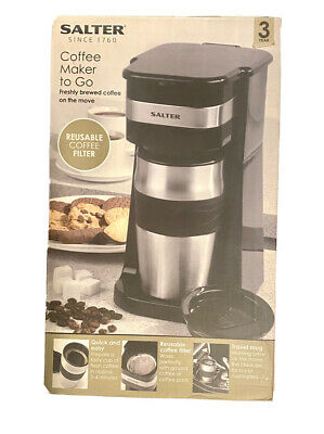 £19.95 • Buy Salter Coffee Maker To Go 420ml 700W Personal Filter Coffee Machine - Black