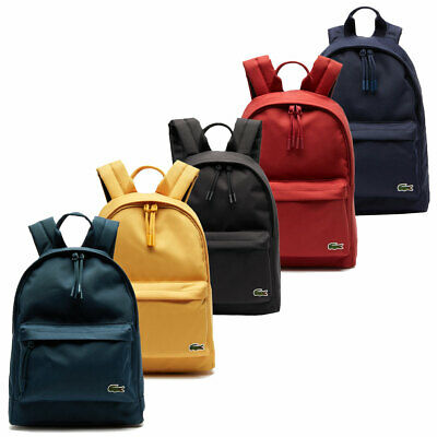 £52 • Buy Lacoste Mens Neocroc Small Canvas Adjustable Backpack Rucksack 31% OFF RRP