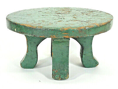 $145 • Buy Antique Unique Milking Stool Primitive Hand Made Wood Sturdy Solid Wooden Old