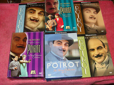 £14.47 • Buy Lot Of 6 Agatha Christie's Poirot DVD Box Sets Complete Collection, Sets 1-6, Mo