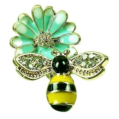£1.85 • Buy Bee Charms Gold Plated Rhinestone Turquoise Blue Enamel Bumble Pack Of 2