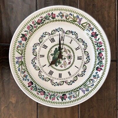 £24.64 • Buy PORTMEIRION Botanic Garden Dinner Plate Wall Clock With DAISIES . 10 1/2   Wide