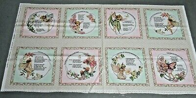 $3.99 • Buy Michael Miller Quilt-craft Fabric FLOWER FAIRY PATCH 2/3 Yd (ddc-9271)FairyPanel