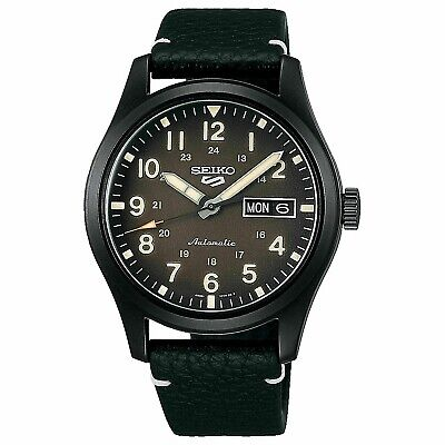 $242 • Buy Seiko 5 Five SRPG41 Automatic Black Military Field Watch 100 Meter W/R Day Date