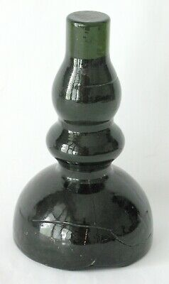 $500 • Buy Antique Early Glass Whimsy Folk Art Bottle Mold Candle Stick Make-do Hand Made