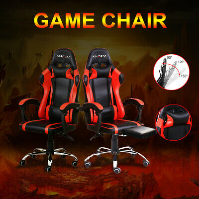 AU75.98 • Buy Gaming Chair Office Executive Computer Game Chairs Seat Racing Footrest Racer