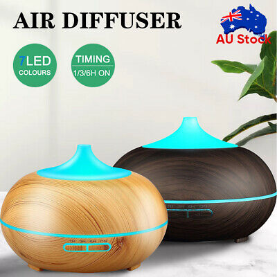 AU7.05 • Buy Aroma Aromatherapy Diffuser Essential Oil Air Humidifier Wood Grain 7led Light