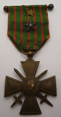 £24.99 • Buy France / French Ww1 Croix De Guerre Medal 1914 - 1917 With 2 Citation Stars