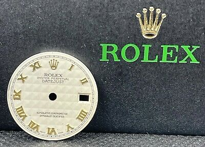 $ CDN224.69 • Buy Rolex Datejust Ladie's 26mm White Ivory Pyramid Dial Gold Roman Numerals 69173