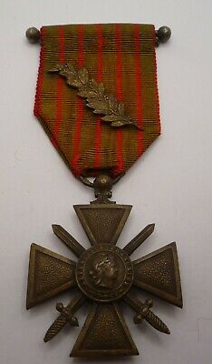 £32.99 • Buy France / French Ww1 Croix De Guerre Medal 1914 - 1918 With Palm Leaf