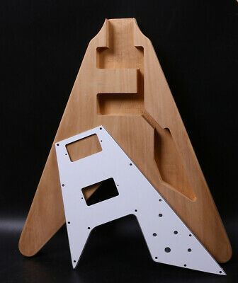 $100 • Buy New Electric Guitar Body Flying V Style Set In Heel Width Pickguard HH Pickup