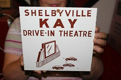 $ CDN18.25 • Buy Shelbyville Kay Drive-In Hollywood Movie Theatre Gas Oil Porcelain Metal Sign