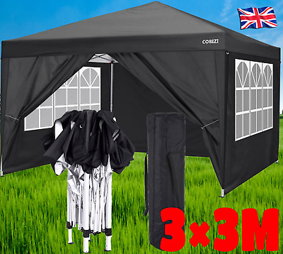£169.99 • Buy 3x3M Gazebo Pop-up Canopy Marquee Waterproof Garden Party Tent With 4Side Panels