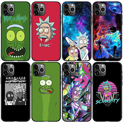 AU12.26 • Buy Rick And Morty Print Phone Cases IPhone Protector Black Soft Silicone Phone Case