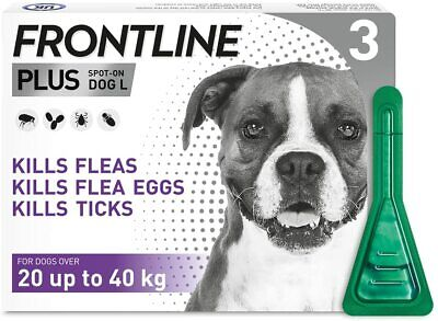 £27.15 • Buy Plus Flea & Tick Treatment For Large Dogs - 3 Pipettes