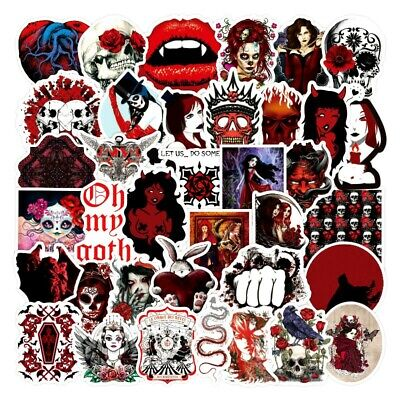 £2.89 • Buy 20   Coloured Skull / Horror Gothic / Goth Stickers Laptop / Walls / PC'S