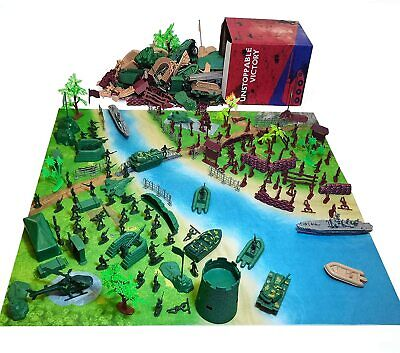 $33.99 • Buy Army Men Military Set 293PCS-Mini Action Figure Play Set With Soldiers, Vehicles