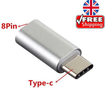£2.75 • Buy 8 Pin To USB Type C Adapter Data And Charging For Apple IPhone Cable To SAMSUNG