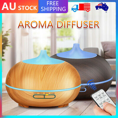 AU18.99 • Buy 550ML Aromatherapy Diffuser Aroma Essential Oil Air Humidifier Wood Grain Remote